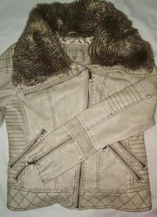 Шкіряна курточка від guess кожаная куртка