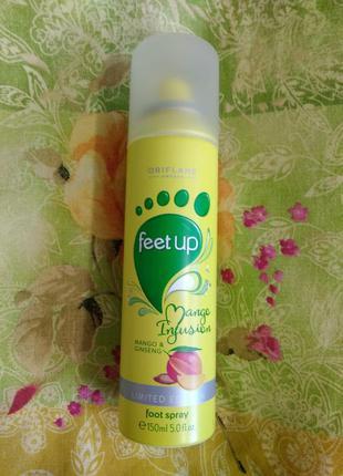"""Спрей для ног """"манго и женьшень""""  oriflame"""