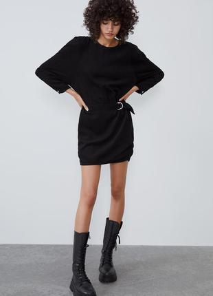 Стильное платье в рубчик от zara