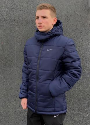 """Зимняя куртка """"европейка"""" синий"""