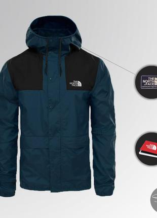 Ветровка the north face 1985 seasonal mountain jacket (черно-с...