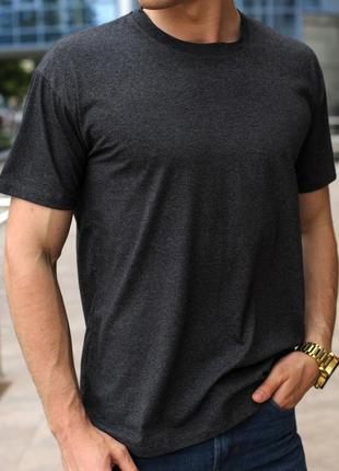 Темно-серая мужская футболка
