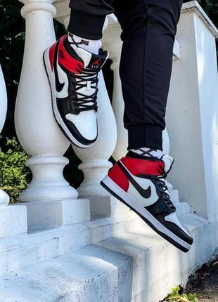 Nike air jordan мужские бело красние