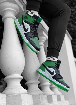 Nike air jordan мужские бело зельоние