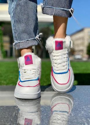 Женские ботинки форс белые зима