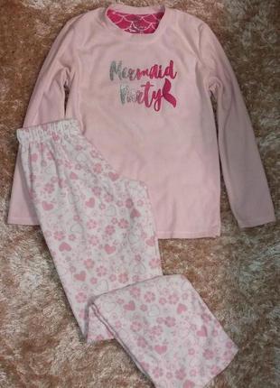 Теплая флисовая пижама или костюм для дома, анг. 10-12 р. (евр...