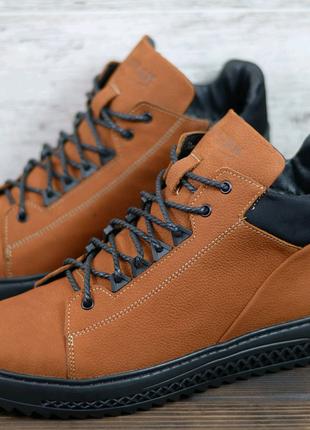 Мужские кожаные зимние ботинки Zangak