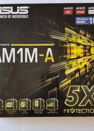 Материнская плата Asus AM1M-A + 4х ядерный AMD 3850