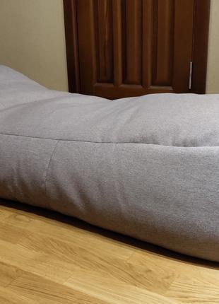 Enjoy лежак Wave 75x185x45см полістирол брезент сірий