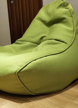 Enjoy крісло Lagom 80х80х100см полістирол брезент зелене