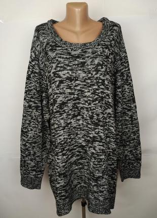 Свитер туника стильный серый большой размер yours uk 26-28