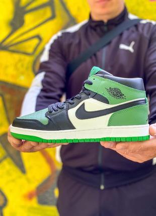 Классные мужские кроссовки nike air jordan зелёные