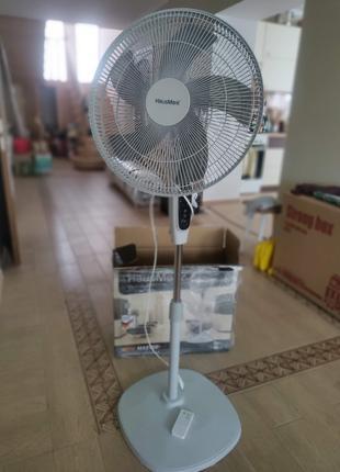 Вентилятор підлоговий з д.к HausMark Wind Master 50W 40cm HSFM-16