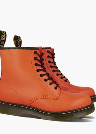 Ботинки dr. martens оранжевые smooth leather original унисекс ...