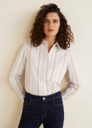 Стильная рубашка mango в полоску