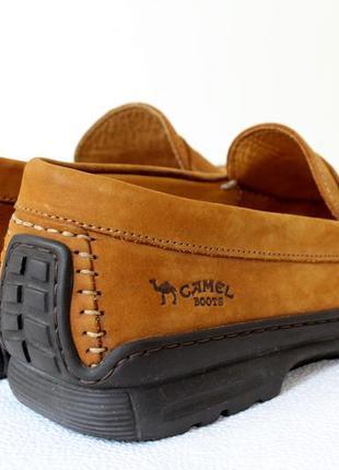 Кожаные туфли мокасины camel boots