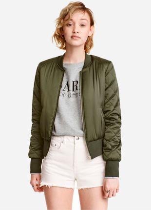 Бомбер куртка хаки h&m