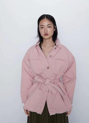 Куртка с поясом zara