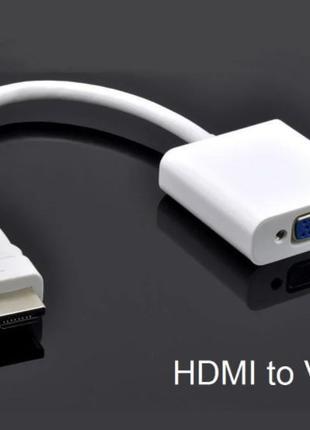 Переходник HDMI to VGA эмулятор монитора
