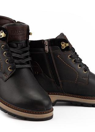 Мужские зимние ботинки из натуральной кожи falcon 115/9