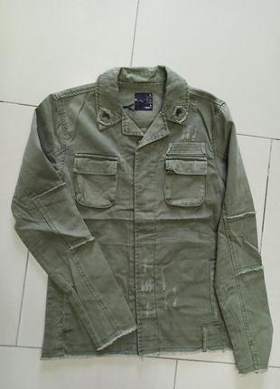Мужская куртка рубашка ветровка джинсовая
