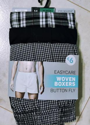 Набор мужских хлопковых трусов шортиков, 3 штуки упаковка