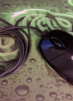 Мышь Logitech Optical Wheel Mouse (S96) PS/2