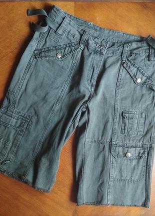 Женские джинсовые шорты-бермуды хаки CREATOR