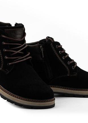 Мужские зимние ботинки из натуральной замши yuves 775