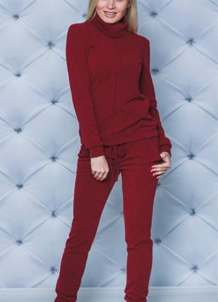 Костюм женский из шерсти свитер+штаны
