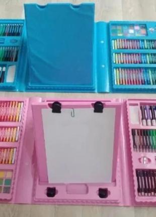 Мольберт .Набор для рисования в пенале 208 предметов для творч...
