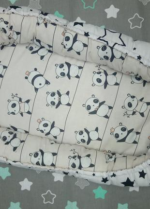 Кокон позиционер для малышей от 0 до 6 месяцев