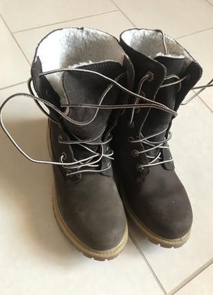 Ботинки зимние стильный модный дорогой бренд timberland размер...