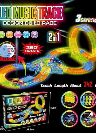 Игровой автотрек Magic Track GD 154 A, звук,свет, трасса 342 см