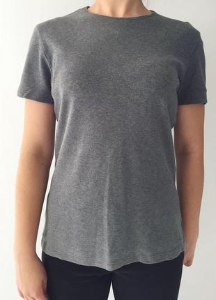 Футболка, серая футболка от tezenis, базовая футболка, теплая ...