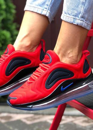 Nike Air Max 720 червоні з чорним