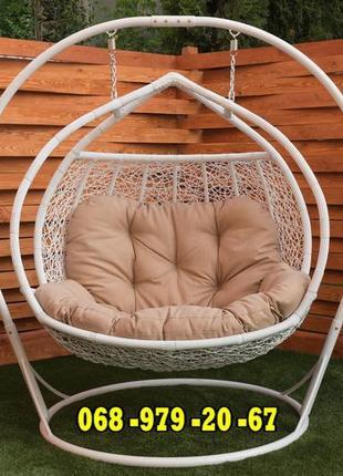 Двухместное подвесное кресло ГАЛАНТ от KRESLOROTAN. Качеля гам...