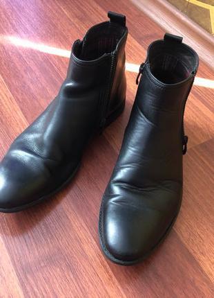 ботинки мужские демисезонные кожанные