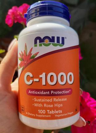 Витамин С1000 Now Foods Vitamin C 1000 100 шт,вітамін с