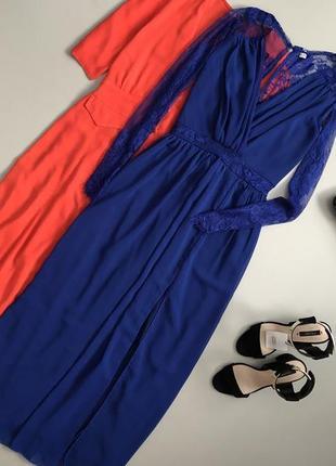 Трендовое и изысканное платье миди / макси с дорогим кружевом