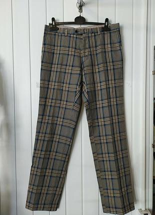 Cantarelli италия  мужские трендовие брюки полоска клетка кото...