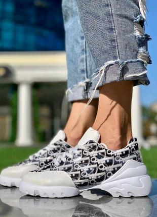 Женская Обувь Диор Надпись Белые