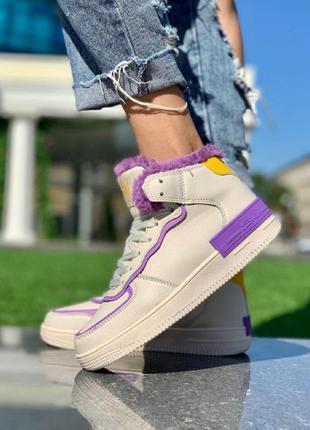 Женские ботинки форс фиолетовые зима