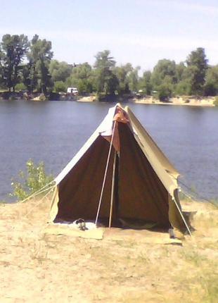 Палатка двухместная брезентовая ссср