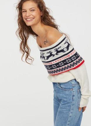 Очень красивый вязаный свитер джемпер