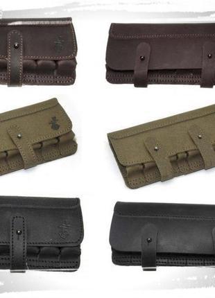Патронташ подсумок кожаный, подарочный на 6 и 8 патронов 12/16...