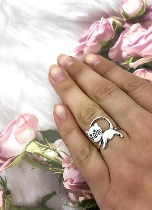 Кольцо серебро 925 котенок 1238