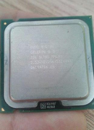 Процессор Intel® Celeron® D 326 (2,53 ГГц, 256 КБ кеш, 775 сокет)