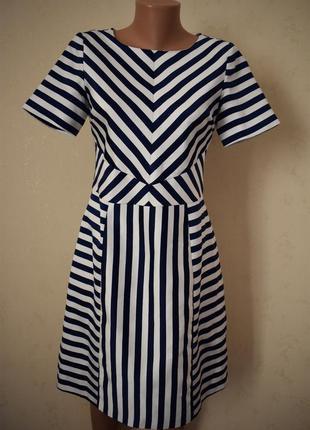 Красивое платье в полоску oasis