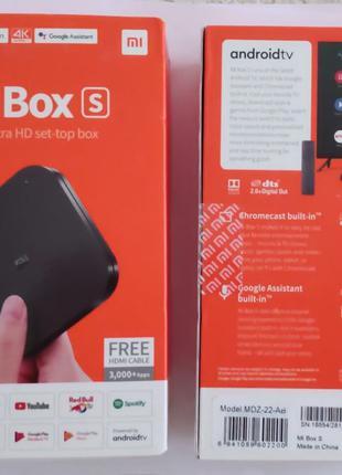 Xiaomi mi box s смарт тв приставка + голосовое управление ориг...